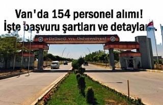 Van YYÜ 154 personel alacak! başvuru şartları...