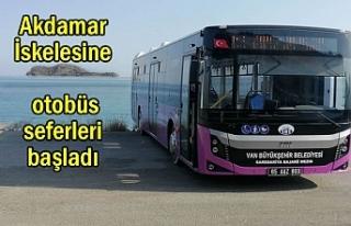 Akdamar İskelesine otobüs seferleri başladı