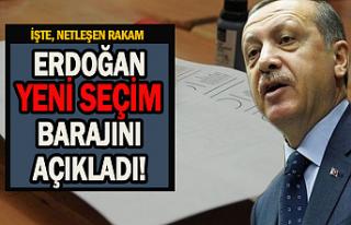 Erdoğan yeni seçim barajını açıkladı