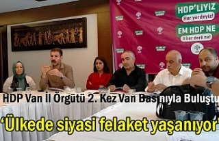 HDP Van İl Örgütü 2. Kez Van Basınıyla Buluştu