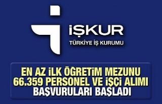 Türkiye İş Kurumu 66 bin personel ve işçi alımı...