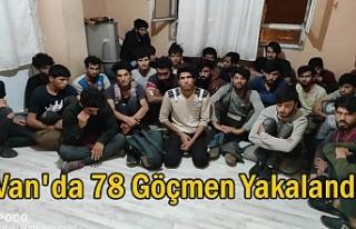 Van'da 78 göçmen yakalandı