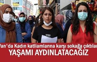 Van'da Kadın katliamlarına karşı sokağa...