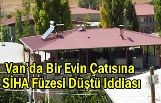 Van'da Bir Evin Çatısına SİHA Füzesi Düştü...