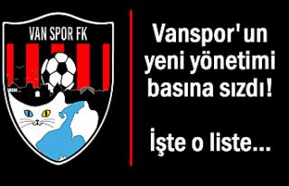 Vanspor'un yeni yönetiminde yer alacak isimler...