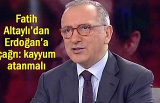 Yazar Altaylı'dan Erdoğan'a çağrı: kayyum...