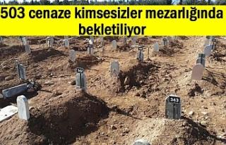 503 cenaze kimsesizler mezarlığında bekletiliyor