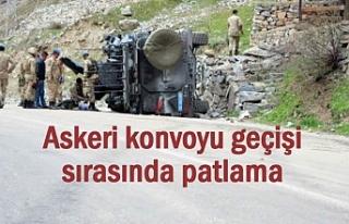 Askeri konvoyu geçişinde patlama: Yaralılar var