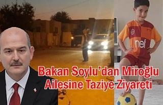 Bakan Soylu'dan Miroğlu Ailesine Taziye Ziyareti