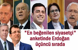 En beğenilen siyasetçiler' anketinde Erdoğan...