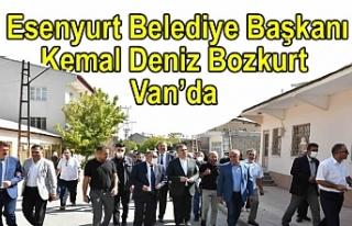 Esenyurt Belediye Başkanı Bozkurt Van'da İncelemelerde...