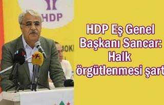 HDP 'li Sancar: Halk örgütlenmesi şart