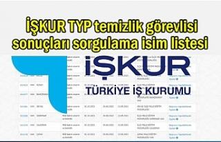 İŞKUR TYP temizlik görevlisi sonuçları isim listesi