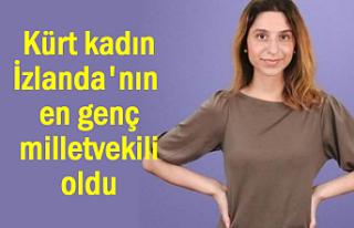 Kürt kadın İzlanda'nın en genç milletvekili...