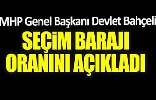 MHP Lideri Bahçeli seçim barajını açıkladı