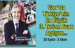 Türkiye'nin en büyük 3. turizm fuarı yarın...