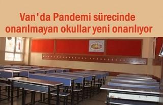 Van'da Pandemi sürecinde onarılmayan okullar...