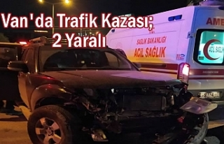 Van'da Trafik Kazası; 2 Yaralı