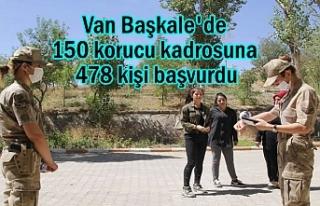 Van'da 150 korucu kadrosuna 478 kişi başvurdu