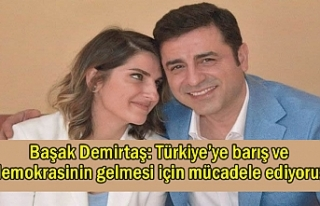 Demirtaş: Türkiye'de barış ve demokrasi için...