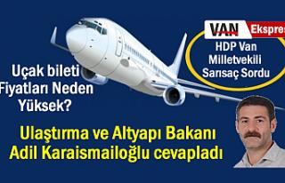 Sarısaç Sordu: Uçak Biletleri Neden Yüksek, Bakan...