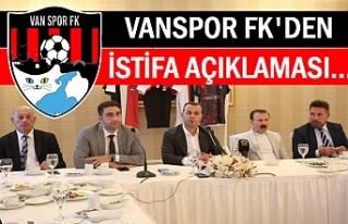 Vanspor'dan istifa iddialarına cevap gecikmedi
