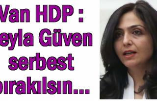 Van HDP : Leyla Güven serbest bırakılsın