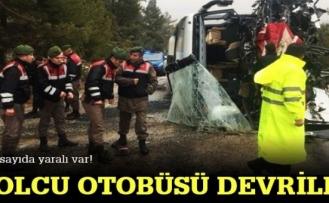 Diyarbakır'dan yola çıkan Yolcu otobüsü devrildi...
