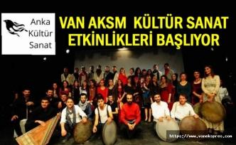 Van AKSM'de kültür sanat etkinlikleri başlıyor