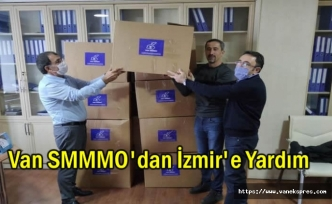 Van SMMMO'dan İzmir'deki depremzedelere yardım