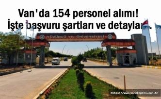 Van YYÜ 154 personel alacak! başvuru şartları ve detaylar