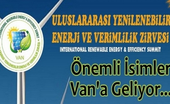 Van'da Uluslararası Enerji ve Verimlilik Zirvesi!