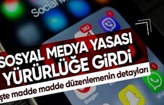 Sosyal medya yasası yürürlüğe girdi! İşte önemli değişiklikler