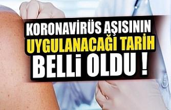 Türkiye'de Çin aşısının uygulanacağı tarih belli oldu