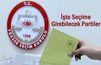 YSK Seçime Girecek Partileri Açıkladı?