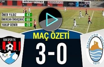 Vanspor, Pazarspor'u 3-0 Yendi | Maç Özeti