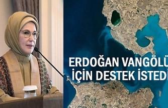 Emine Erdoğan'dan Van Gölü NASA fotoğrafına destek