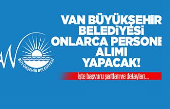 Van Büyükşehir Belediyesi Işçi Alımı! İşte detaylar...