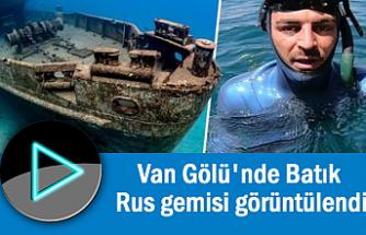 Vangölü'nde Batmış Rus Gemisi Görüntülendi