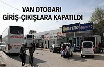 Van Otogarına Giriş Çıkış Yasak!
