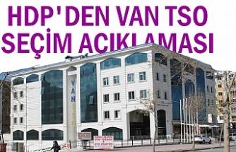 HDP'den 'Van TSO seçim' açıklaması