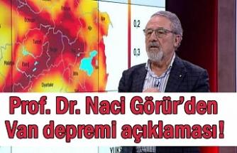 Profesör Naci Görür'den Van depremi açıklaması!