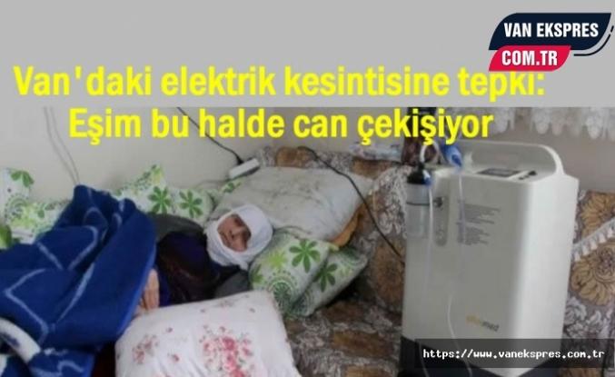 Van'da Elektrik kesintilerine tepki: Eşim can çekişiyor