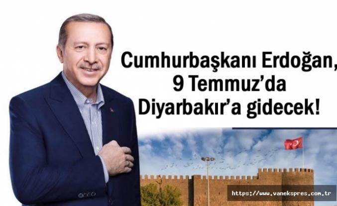 Cumhurbaşkanı Erdoğan, 9 Temmuz'da Diyarbakır'a gidecek