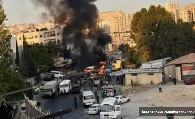 Askeri otobüste patlama