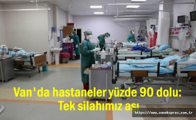 Van'da hastaneler doldu taştı: Tek silahımız aşı