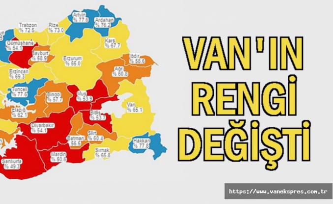 Van'ın Rengi Değişti