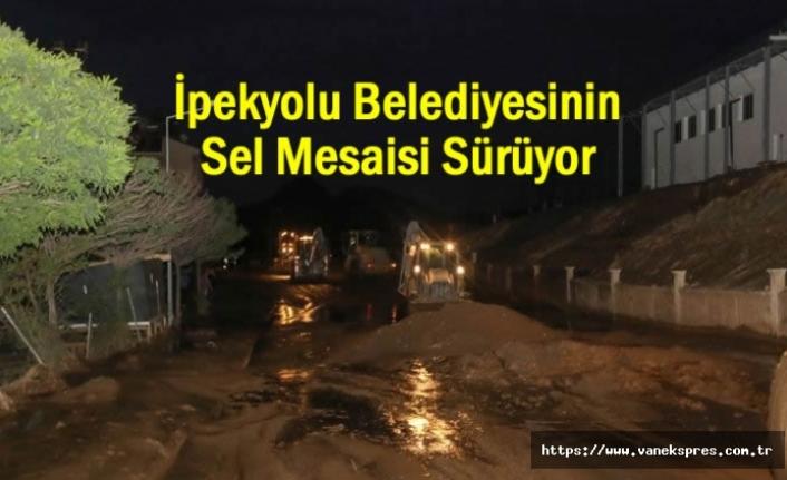 İpekyolu belediyesi'nden yoğun sel mesaisi